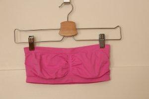 H&M Haut bandeau rose-turquoise polyamide