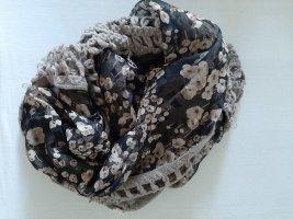 Pañoleta marrón grisáceo tejido mezclado