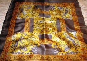 Tuch Halstuch Schal scarf XXL Tuch Leo Leopard Animal Print Vintage h m gold braun schlamm NEU ungetragen Top angesagt