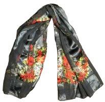 Tuch im klassischen Blumenmuster 100 x 100 cm, teilweise transparent, wirkt sehr edel