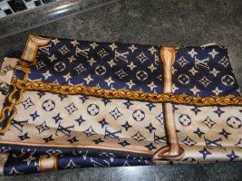 Louis Vuitton Foulard bleu-beige clair soie