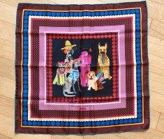 Maison Common Pañuelo de seda rosa-azul