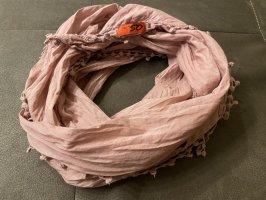 s. Oliver (QS designed) Fringed Scarf rose-gold-coloured