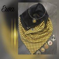 handmade unikat Foulard noir-jaune coton