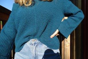 türkis - blauer Pullover