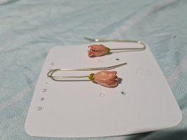 schmuck-art Pendientes de oro color rosa dorado-color oro