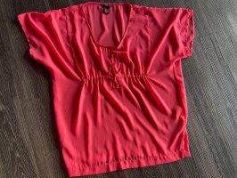 H&M Beachwear neon red polyester