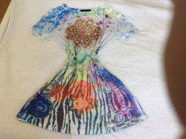 Camicia a tunica multicolore Tessuto misto