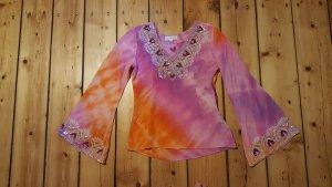 Amor & Psyche Camicia a tunica multicolore Seta