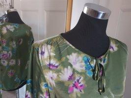 Tunikabluse aus hochwertiger Seidenmischung in aktuellem Blumenprint, Gr.38