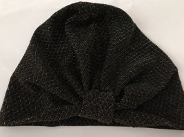 Sombrero de tela negro-color oro