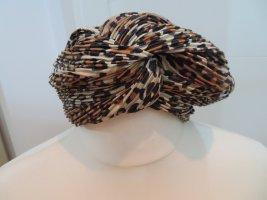 Turban Haarband Stoff Leo Plissee