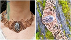 Handmade Collier Necklace multicolored