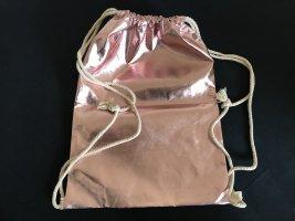 Turnbeutel rosa metallic Metall-Optik (Handtasche) ca. 32 x 45 cm