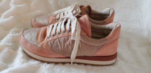 Brunello Cucinelli Sneaker stringata oro-rosa pallido