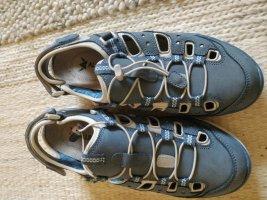 Mephisto Sandale d'extérieur bleu acier tissu mixte