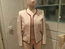 Massimo Dutti Blazer Tweed blanco puro-marrón