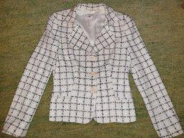 Tweed Blazer Größe 36 cremeweis/schwarz