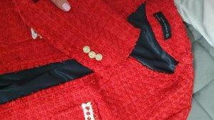 Zara Blazer in tweed rosso Tessuto misto