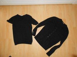 Blue Motion Ensemble en tricot noir viscose