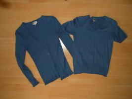 Blue Motion Ensemble en tricot bleu acier viscose