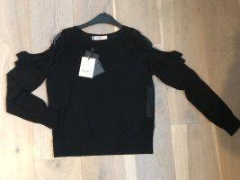 Twinset Milano Pullover Strick Rüsche mit Etikett Größe M