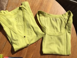marc cain sports Jersey twin set limoen geel