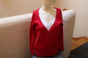 #Two-in-One-Shirt mit Perlen, Gr. 36, #rot-weiß, #Heine, #hochwertig, #Markenmode