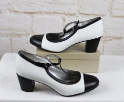 Graceland Escarpins Mary Jane blanc-noir faux cuir