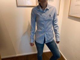 U.s. polo assn. Camicia a maniche lunghe azzurro Tessuto misto