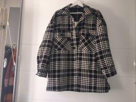 Pull & Bear Manteau mi-saison blanc-noir