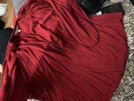 Übergroße Ausgestellte Bluse in Kaminrot