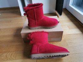 Ugg boots Mini Bailey Bow II, rot, neu