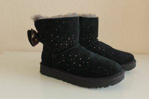 Ugg Boots Mini Schleife Glitzer Sterne schwarz Gr. 36 neu
