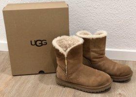 UGG Botas de nieve marrón claro-color oro