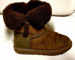UGG Botas de piel marrón-marrón oscuro
