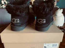 UGG Snow Boots black leather