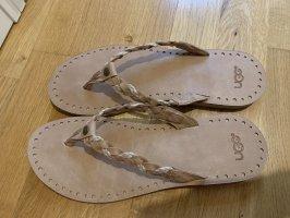 UGG Latschen Flip Flops neu beige Größe 38 39 Sandalen