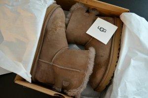 UGG Bottes de neige marron clair cuir