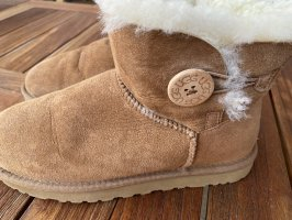 UGG Fur Boots light brown leather