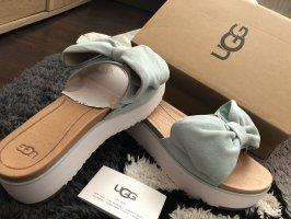 UGG Platform High-Heeled Sandal turquoise