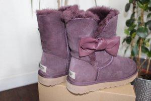 UGG Buty śniegowe purpurowy Skóra