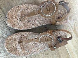 UGG Sandalo toe-post fucsia neon-bronzo Pelle