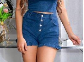 Uhh! Sexy HighWaist-Shorts/Pants - Größe S 34/36 - Darkblue Denim!
