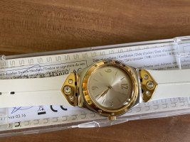 Swatch Hand Fan white-bronze-colored