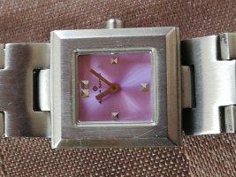 Alpha Saphir Zegarek z metalowym paskiem srebrny-w kolorze różowego złota