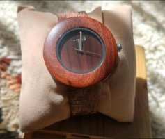 earth Analog Watch brown-cognac-coloured