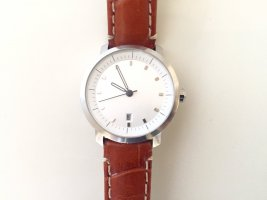 Uhr mit echtem Lederarmband Krokoprägung