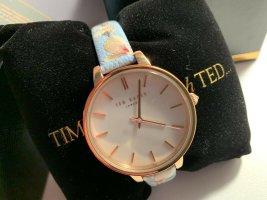 Uhr mit floralem Lederarmband - Ted Baker