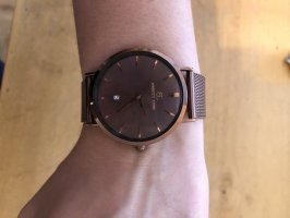 abbott lyon Montre avec bracelet métallique brun foncé-brun